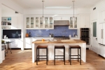 Kitchen with Fireclay Tile Backsplash